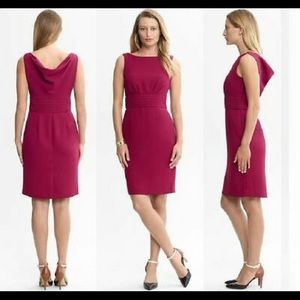 Banana Republic Vera Back Cowl Sheath Dress